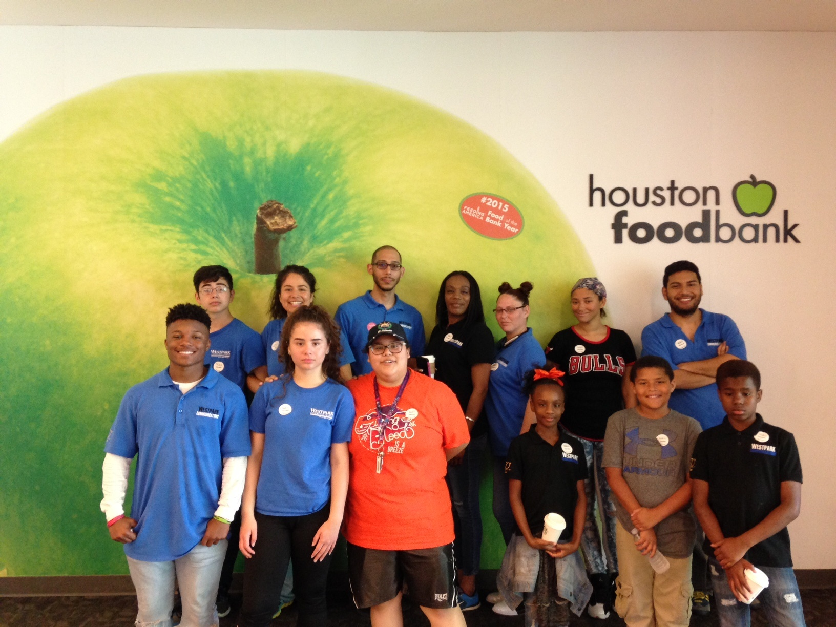 Houston Food Bank photo of Westpark Communications and Family