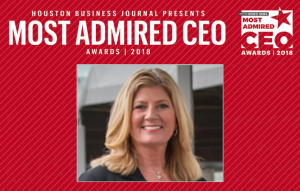 Houston Business Journal Most Admired CEO Recognition for Kathie Edwards